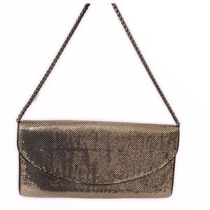 WHITING & DAVIS silver sequined evening bag clutch